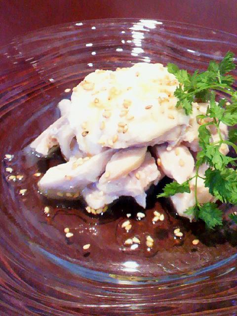 鶏の冷菜 新生姜ソースがけ